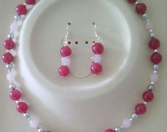 Cherry Pink Necklace Set