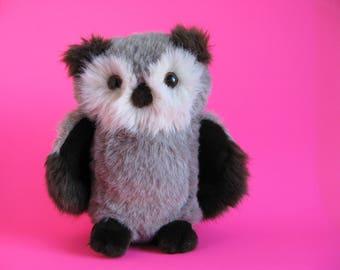 Vintage Owl Stuffed Animal by Bravo Applause Ferguson the Owl 1980s Toys 1988