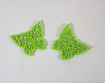 Embellishments/applique/subjects felt Green Butterfly