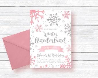 Winter Onederland Invitation Winter Onederland Birthday Girl