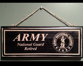 Army National Guard Retirement Wall Sign