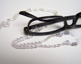 Silver or Gold Eyeglass Chain, Reading Glass Chain, Chain For Glasses, Custom Length 24-28 Inches, by Eyewearglamour