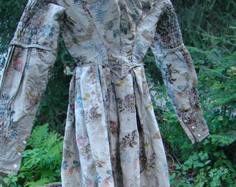 Authentic 1830s English Brocade Gown