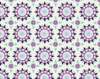 Lulabelle Medallion in Cream Fabric by Riley Blake - 1 Yard