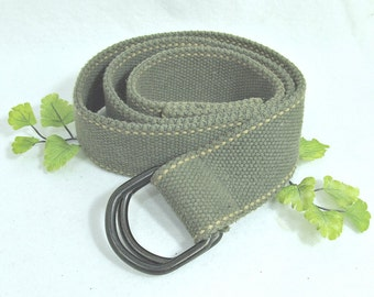D ring belt,wide  D ring belt -canvas belt - unisex belt -wide belt, Medium belt, size up to 36 inch ,  # B 2