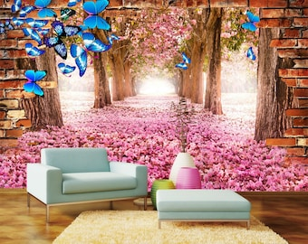 3D Secret Garden View 219 Wallpaper Mural Wall Print Decal Wall Deco Indoor wall Murals Wall Sticker kids Child Wallpaper