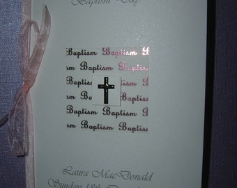 Lovely handmade personalised personalized Baptism Christening Dedication card Goddaughter Daughter Granddaughter Daughter Girl Niece