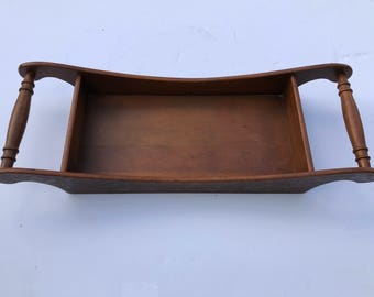 Vintage Wood Tray, Victorian Style Tray,