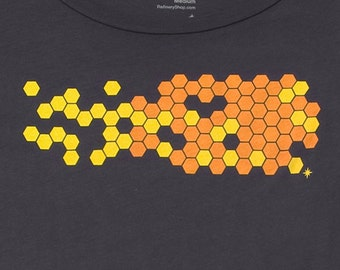 Hive Coal Graphic Tee Womens Limited Edition Organic Cotton