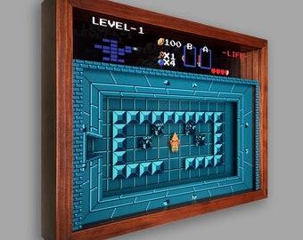 Legend Of Zelda Shadowbox Art