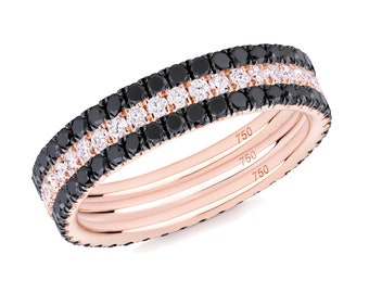 BACK to BLACK in Rose Combination in 18ct Rose Gold