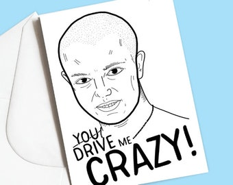 Britney Spears, You Drive Me Crazy card