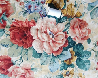 3 pieces of 26x26 inch vintage curtain fabric