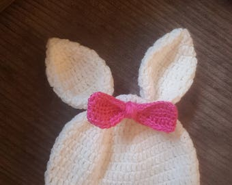 Crochet Bunny ear hat