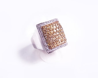 Citrine silver ring and Crystal