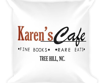 Karen's Cafe Square Pillow
