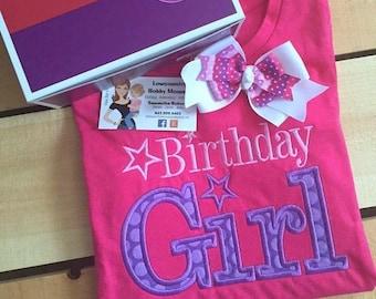 Personalized All American Girl Birthday Shirt