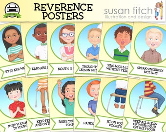 LDS Primary Reverence Posters