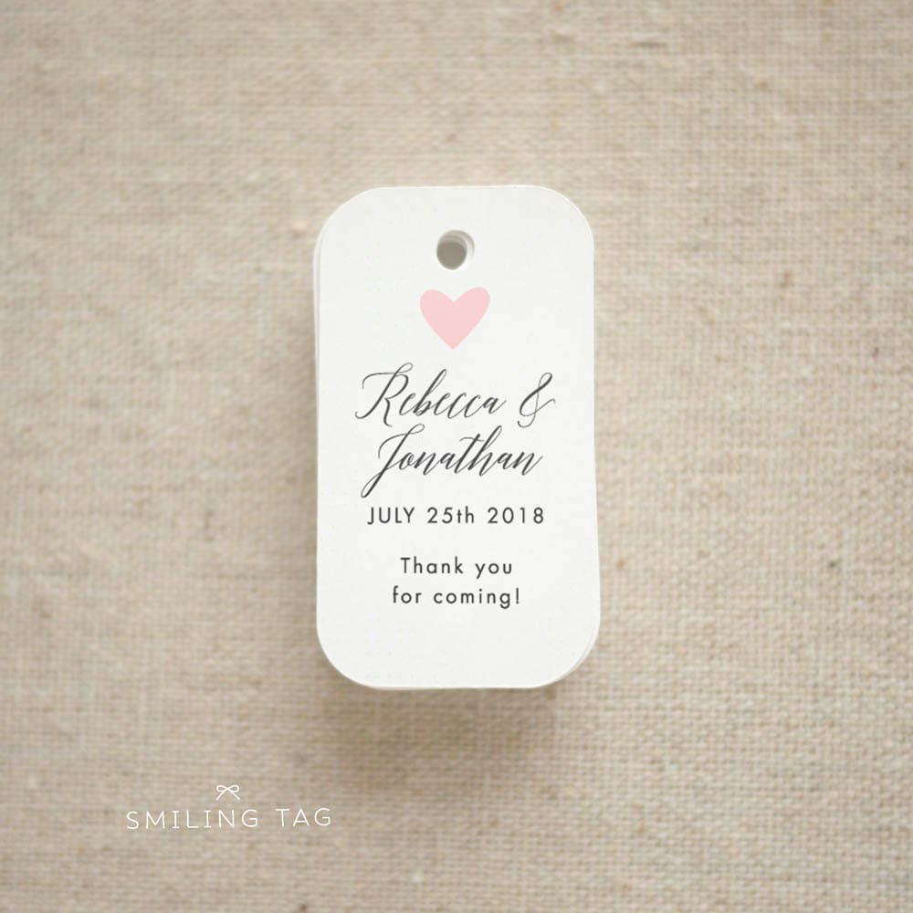 Thank you For Coming Wedding Favor Tags Personalized Gift
