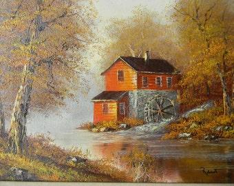 Robert . Vintage Oil painting Landscape