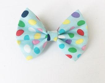 Easter eggs hair bow, spring hair bows, hair bows, hair accessories, mybowcloset