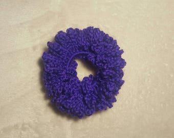 Purple Crochet Scrunchie, Hair Tie, Scrunchies, Hair Ties, Hair Accessories, Ponytail Holder