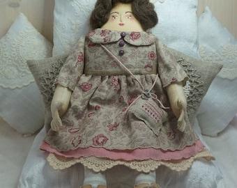Nona, A Folk Art Rag Doll