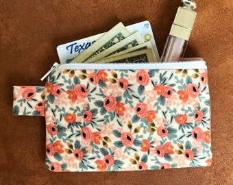 Rifle Paper Co Zippered Keychain Pouch/Coin Purse