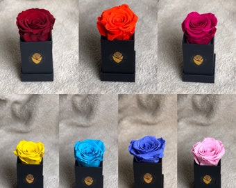 Mini boxes Preserved Roses/Forever roses/Gift For her/ Mother's Day/Valentin's day