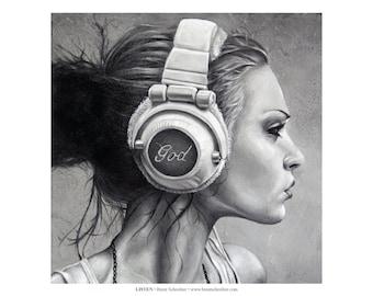 "Listen 11""x17"" Photo Print"