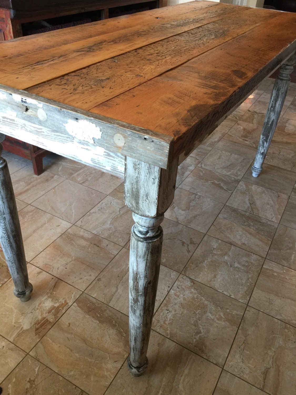Amazing Classic Counter Height Table | 66 Farmhouse Table | 2 Thick Top   Kitchen  Island   Farmhouse