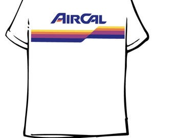 Air Cal Ribbon Design T Shirt
