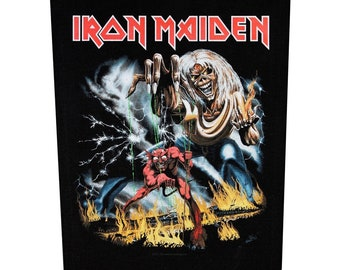 XLG Iron Maiden Number Of The Beast Back Patch Rock Music Jacket Sew On Applique