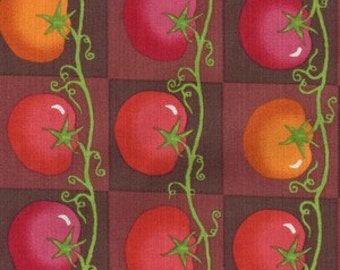 Lush Harvest from Riverwoods Fabrics - 1 Yard Red Tomatoes on Vine