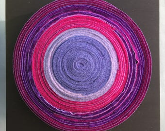 Felted circle wall piece, contemporary craft  #SQ66
