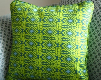 St Patrick's Day Pillow Cover Chartreuse, Sky Blue Diamond Pillow Cover,  Wearing of the Green, St Patricks Pillow Cover