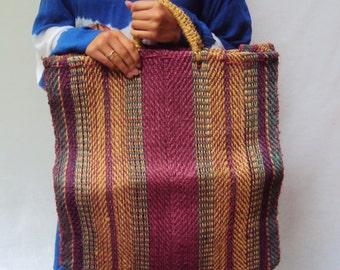SALE Straw market bag / vintage woven market bag / beach / HUGE /
