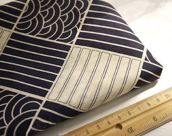 Japanese Fabric Cotton Fabric Kimono Fabric Check Fabric   - 1/2 yard