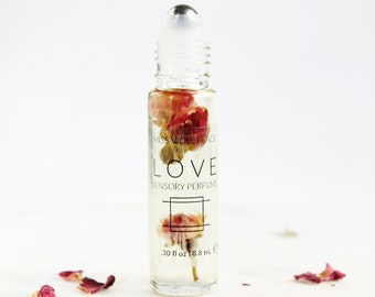 LOVE perfume | Sensory Perfume with Rose | 100% natural and vegan