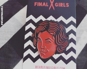 """Twin Peaks """"Audrey"""" enamel pin"""