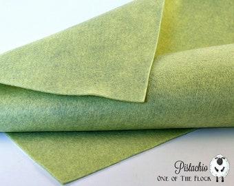 Pistachio Wool Felt, Felt by the Yard, Merino Wool Felt, Wool Blend Felt, Wool Felt Yardage, Wool Felt Fabric, Merino Wool Blend Felt, Felt