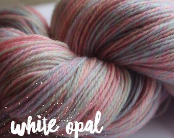 Elements Collection - Col White Opal  4 ply supersoft 100% Merino