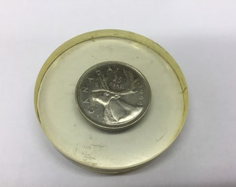 1968 Canadian Quarter Paper Weight