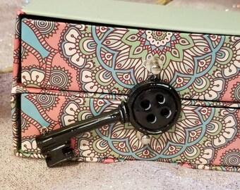 Polymer Clay Coraline Button Key Pendant fan art