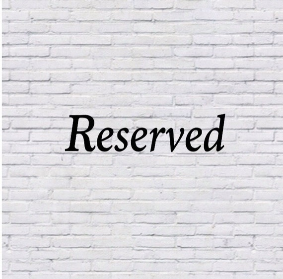 Reserved for britwheeldon
