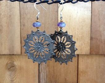 Boho Earrings, Bohemian Earrings, Boho Dangling Earrings, Boho Dangle Earrings, Gypsy Earrings, Boho Dangly Gemstone Earrings, Boho Jewelry