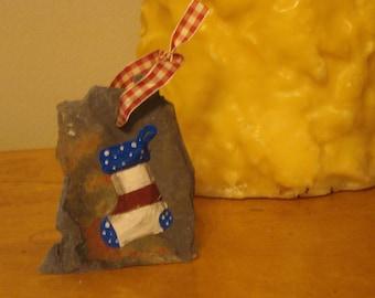 American Flag Stocking Ornament