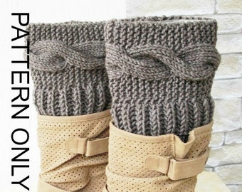 diy gift Knitting Pattern  Boot Cuffs Digital  Boot Toppers  PATTERN PDFwinter knitting   Leg Warmers   Pattern Boot Topper Instantdownload