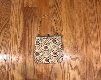 Beautiful Vintage Beaded Tapestry Evening Bag