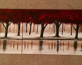Red Forrest-Multi Canvas